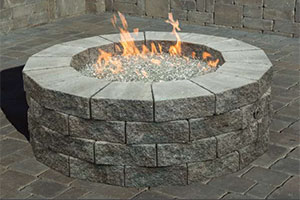 Pre-Packaged Cambridge Pyzique Round Gas Fire Pit Kit