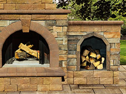 Stone Veneer Optional Firewood Box Extension