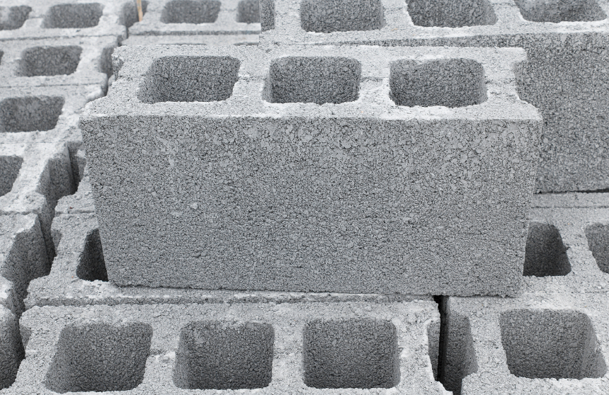 Concrete blocks dimensional concrete blocks long for Bloque de cemento para jardin