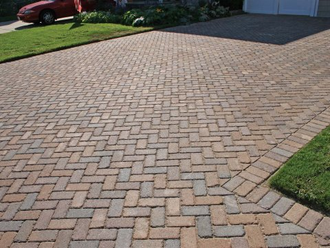 Holland Antiqued • Terra Cotta Blend • 45 Degree Herringbone