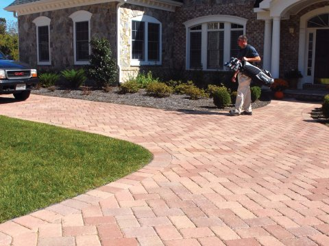 "Country 6x9"" • Crab Orchard Blend • 45 Degree Herringbone"